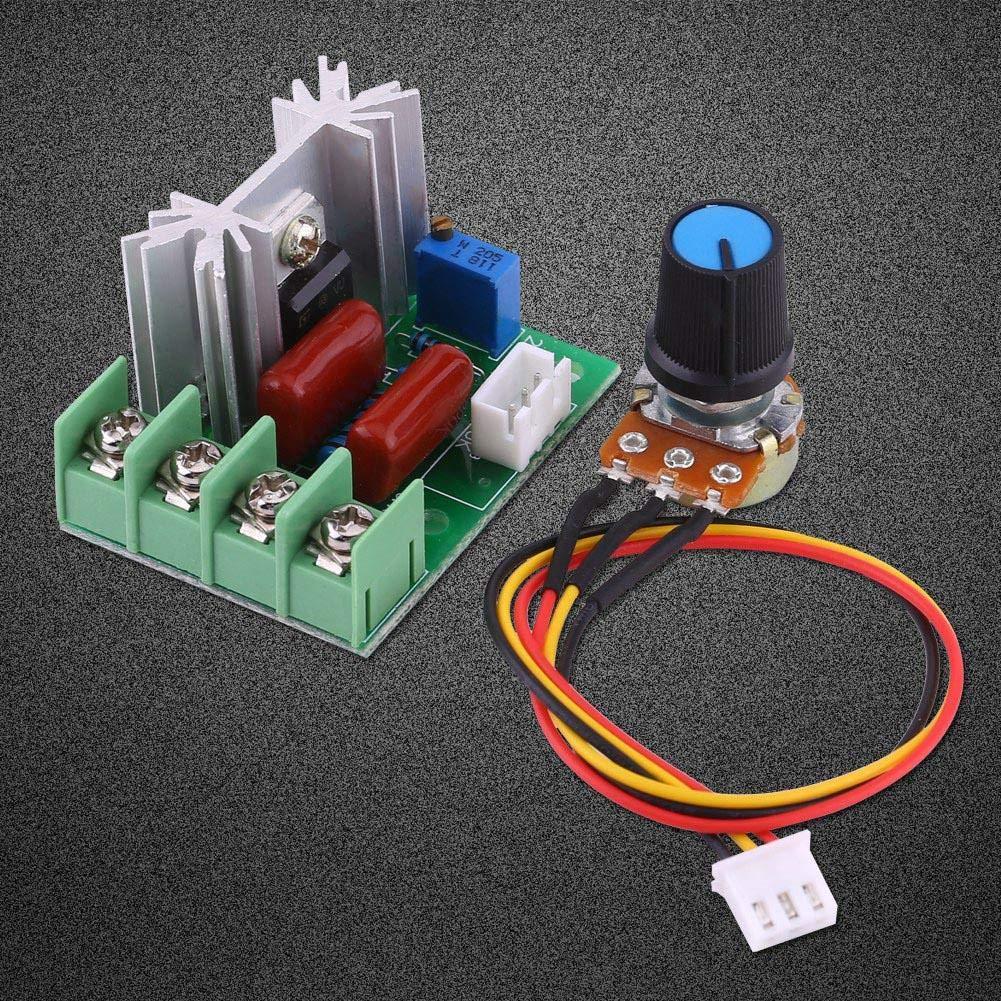 CA 50-220V 2000W SCR Regulador de Voltaje El/éctrico Regulador de Velocidad del Motor Regulador de Luz Temperatura