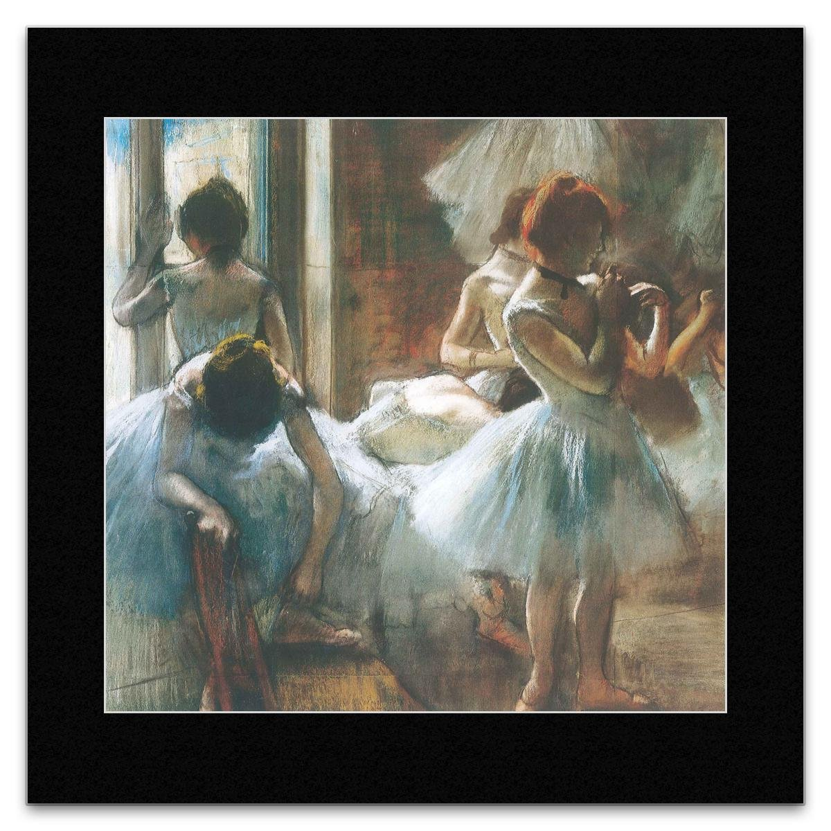 Amazon.com: TUSHITA Edgar Degas - Dancers 1884/1885 Mini Poster - 40x40cm:  Kitchen & Dining