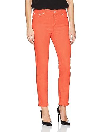 8f37da87450 NYDJ Women s Sheri Slim Ankle with Hem Embroidery in Premium Denim ...