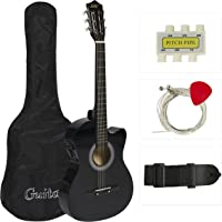 Best Choice Products Electric Acoustic Guitar Cutaway Design with Guitar Case, Strap, Tuner Black New