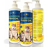 Premium Liquid Omega-3 Fish Oil for Dogs and Cats - All-Natural Human Grade Food Supplement - Wild Caught from the Nordic Waters of Iceland - Higher EPA, DHA than Alaskan Salmon Oil