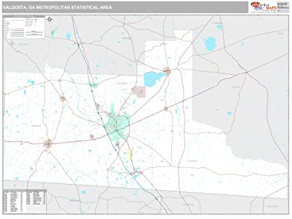 Amazon.com: MarketMAPS Valdosta, GA Metro Area Wall Map   2018