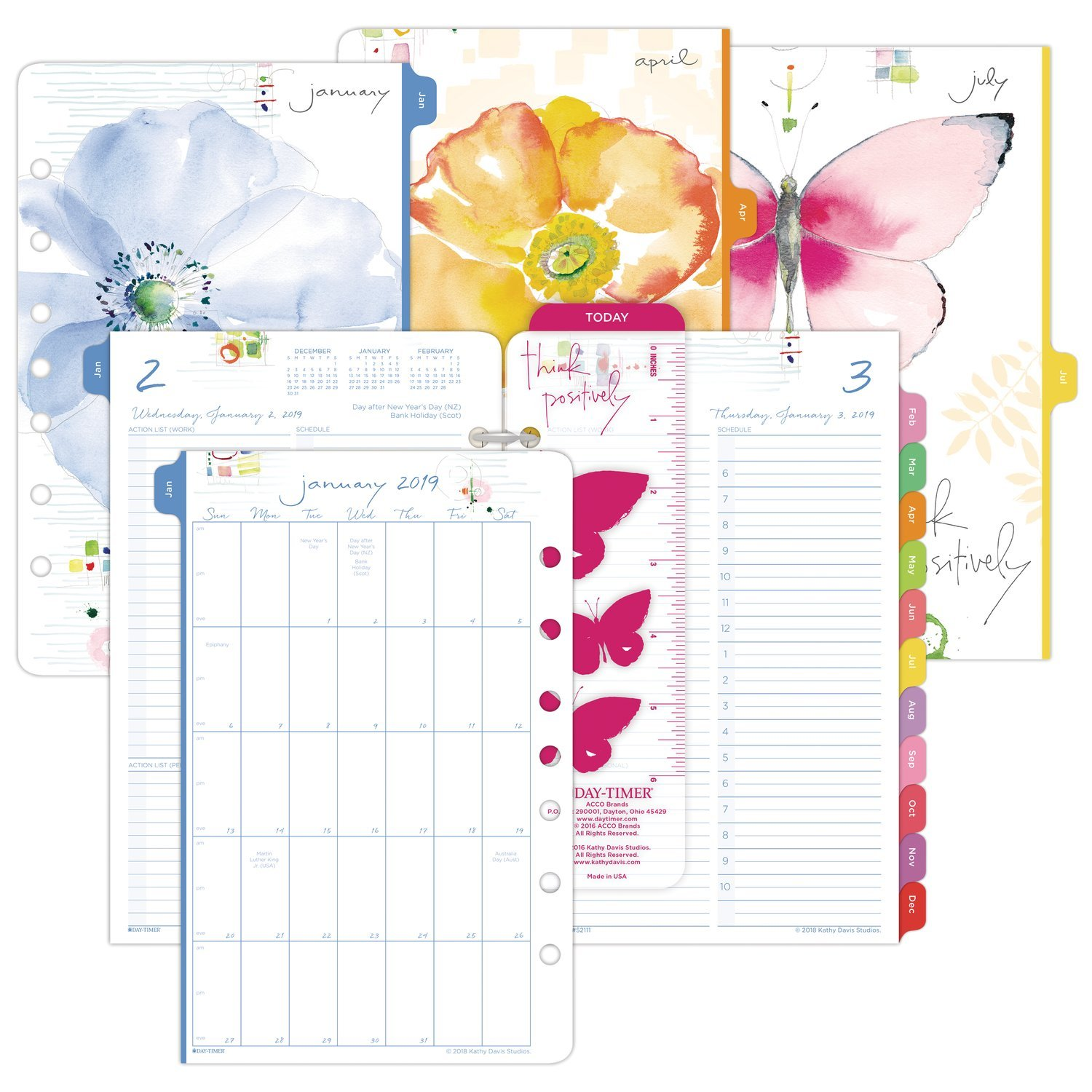 kathy davis for day timer 2019 planner appointment book refill 5 1