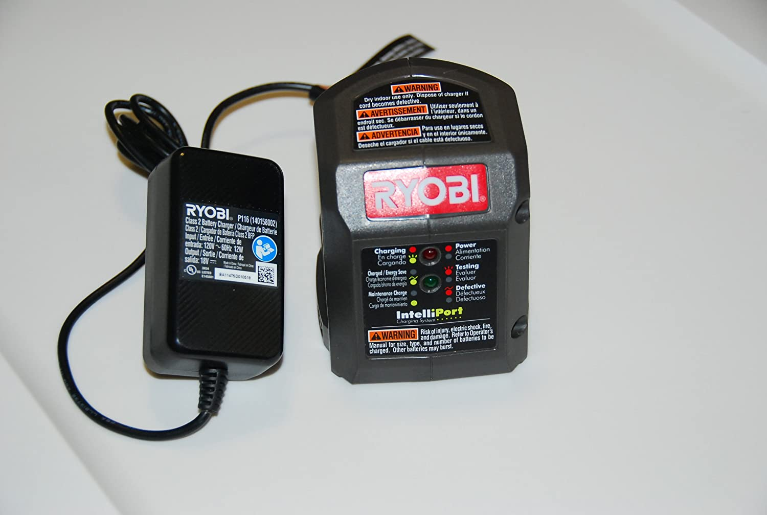 Ryobi P116 18 Volt Compact Lithium Ion Battery Charger