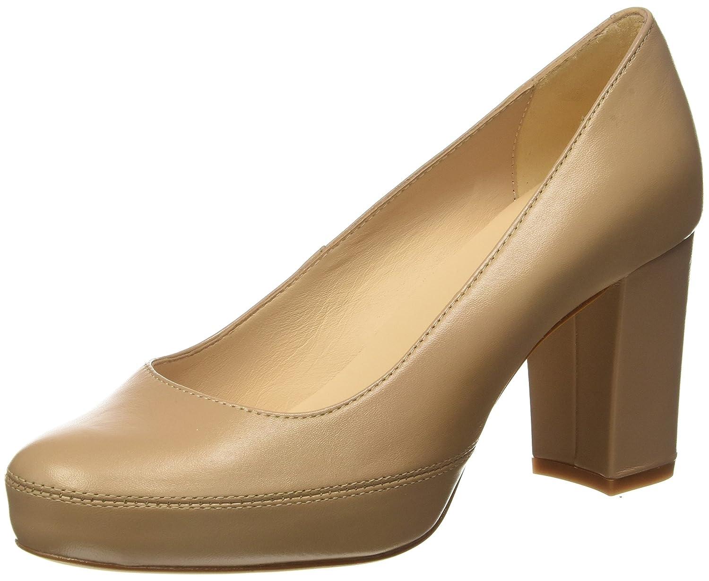 TALLA 38 EU. Unisa Numar_18_na, Zapatos de tacón con Punta Abierta para Mujer