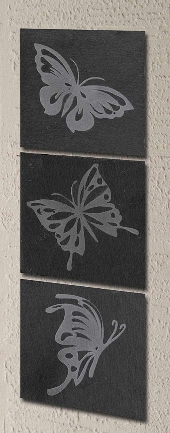 Greenkey Small Butterfly Slate Wall Art Greenkey Garden and Home Ltd