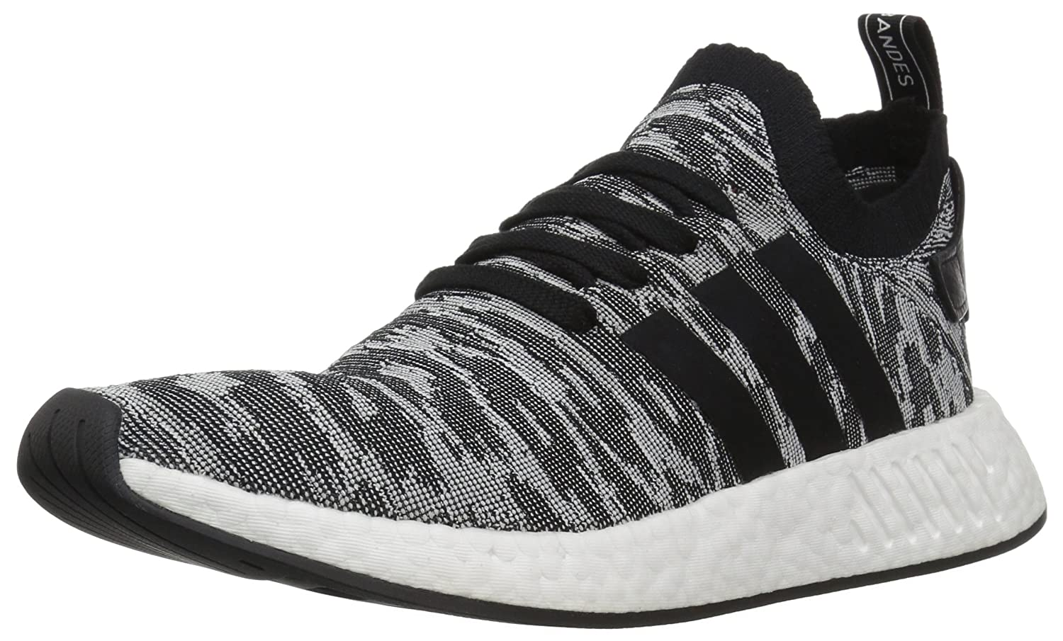 Black Black White Adidas ORIGINALS Mens NMD_r2 Pk Running shoes
