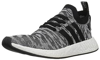 adidas NMD_R2 Primeknit, Baskets Homme, Noir (Core Black/Core Black/Footwear White), 42 EU