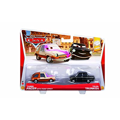 Disney Cars Tubbs with Painted Face and Black Trunkov Diecast Vehicle, 2-Pack: Toys & Games