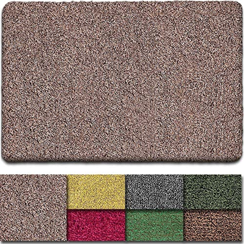 BEAU JARDIN Floor Mats Commercial Super Absorbs Mud Doormat 47 x28 Latex Backing Non Slip for Front Inside Dirt Trapper Mats Cotton Entrance Rug Shoes Scraper Machine Washable Rug Carpet