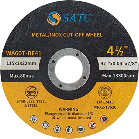 4in Cut off Wheel for Metal Stainless Steel Cutting Discs Blade Angle Grinding