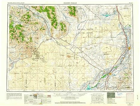 Amazon.com : YellowMaps Idaho Falls ID topo map, 1:250000 ...