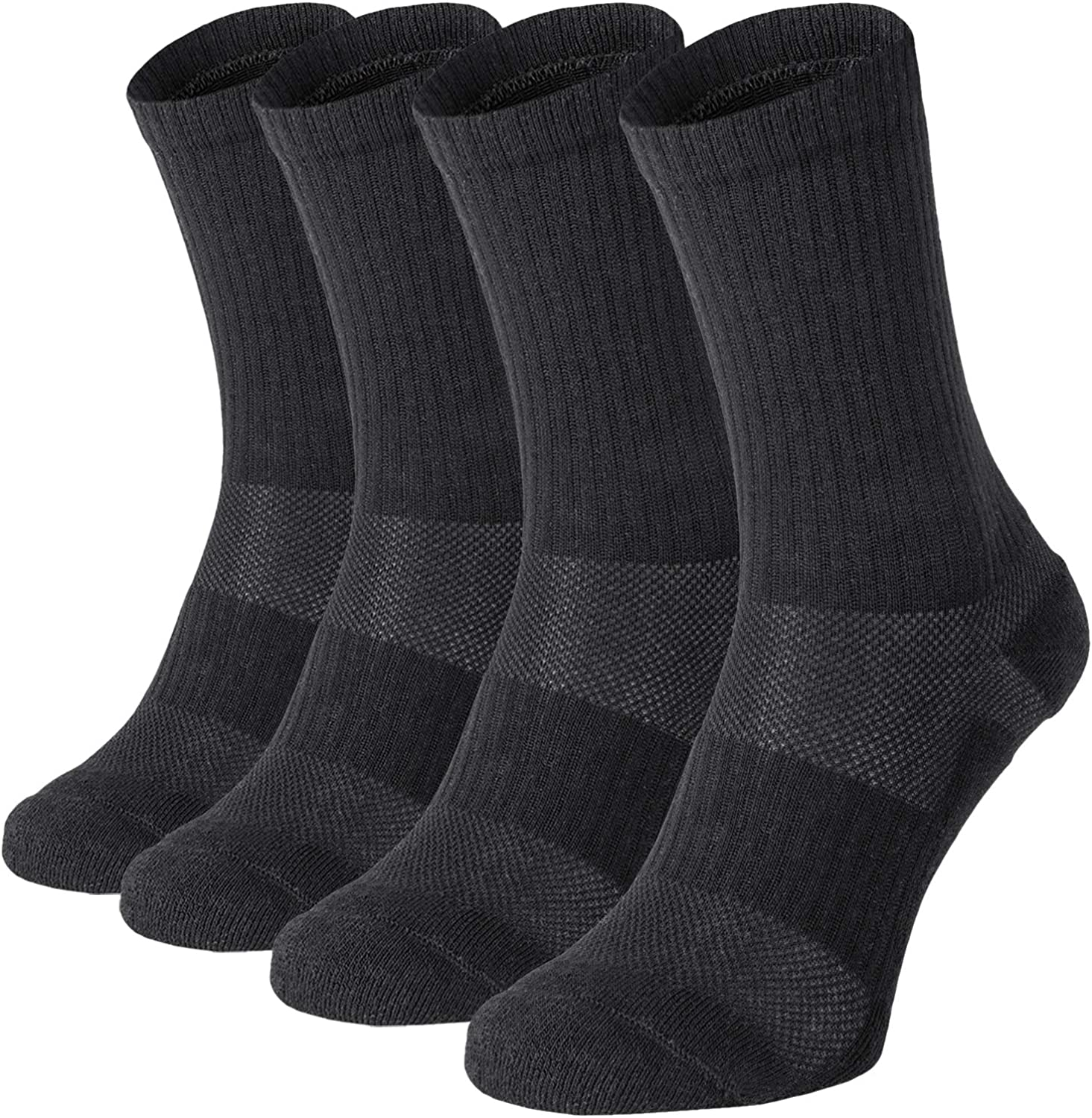 281Z Military Cotton Micro Crew Boot Socks - Cushioned Sole - Moisture Wicking