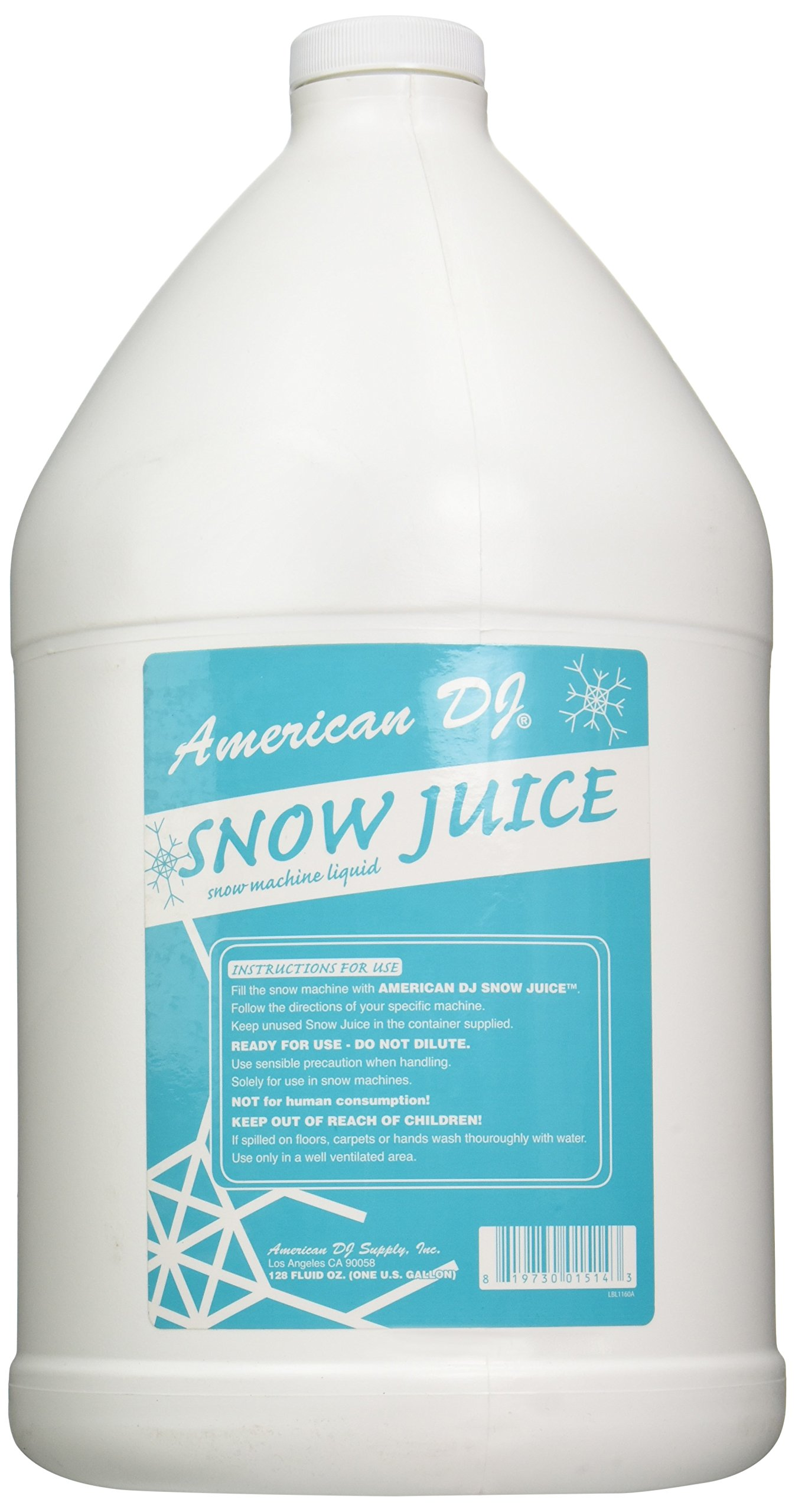 American Dj Snow Juice Gallon Sized Water Based Snow Fluid by ADJ Products