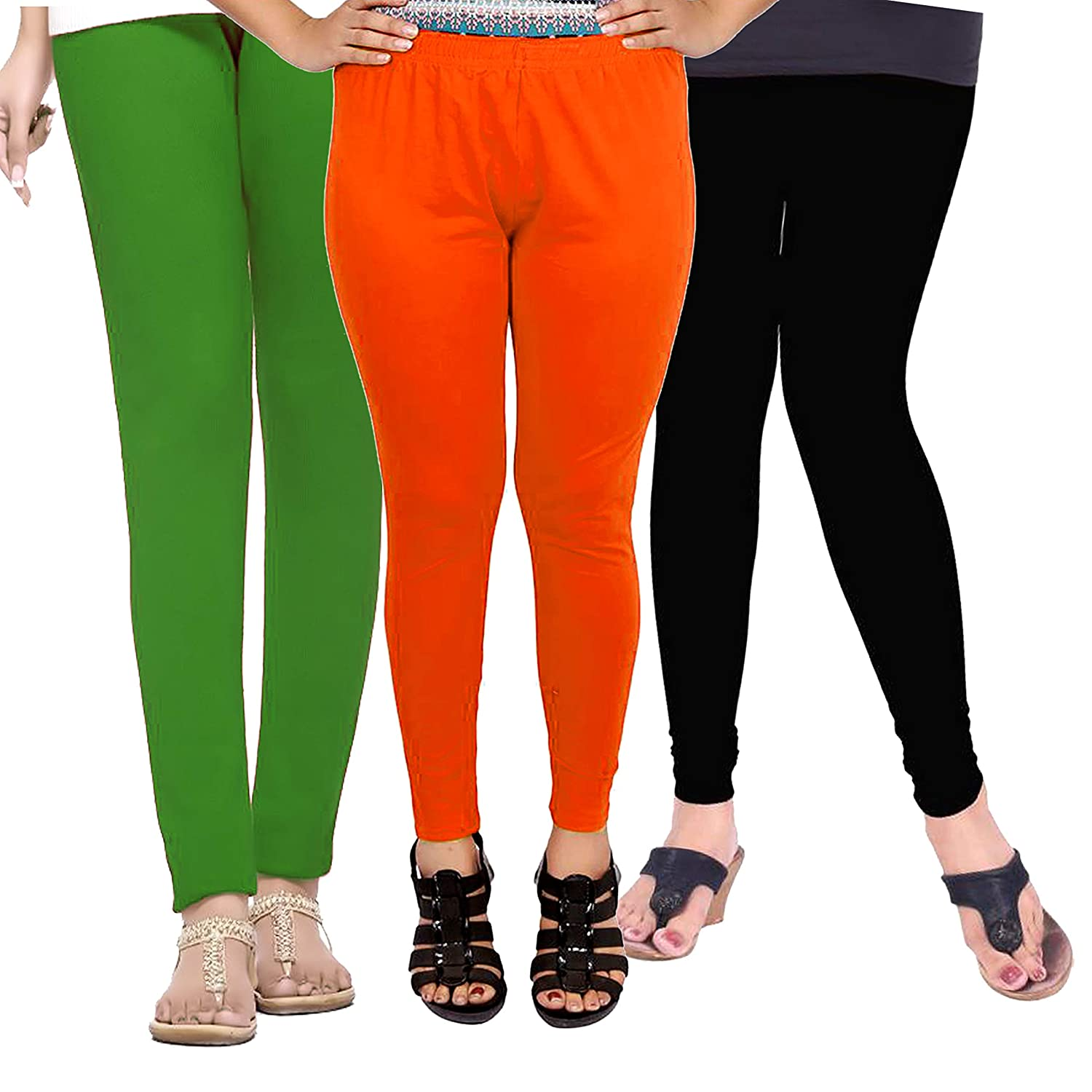 691295f041906 Leggings for Women Girls Cotton Smooth Fabric Pack of 3 (Wholesale Price in  Retail): Amazon.in: Clothing & Accessories