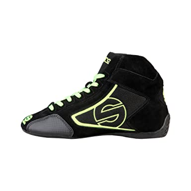 Sparco Mens Sneakers, YAS-MID_NEROFLUO