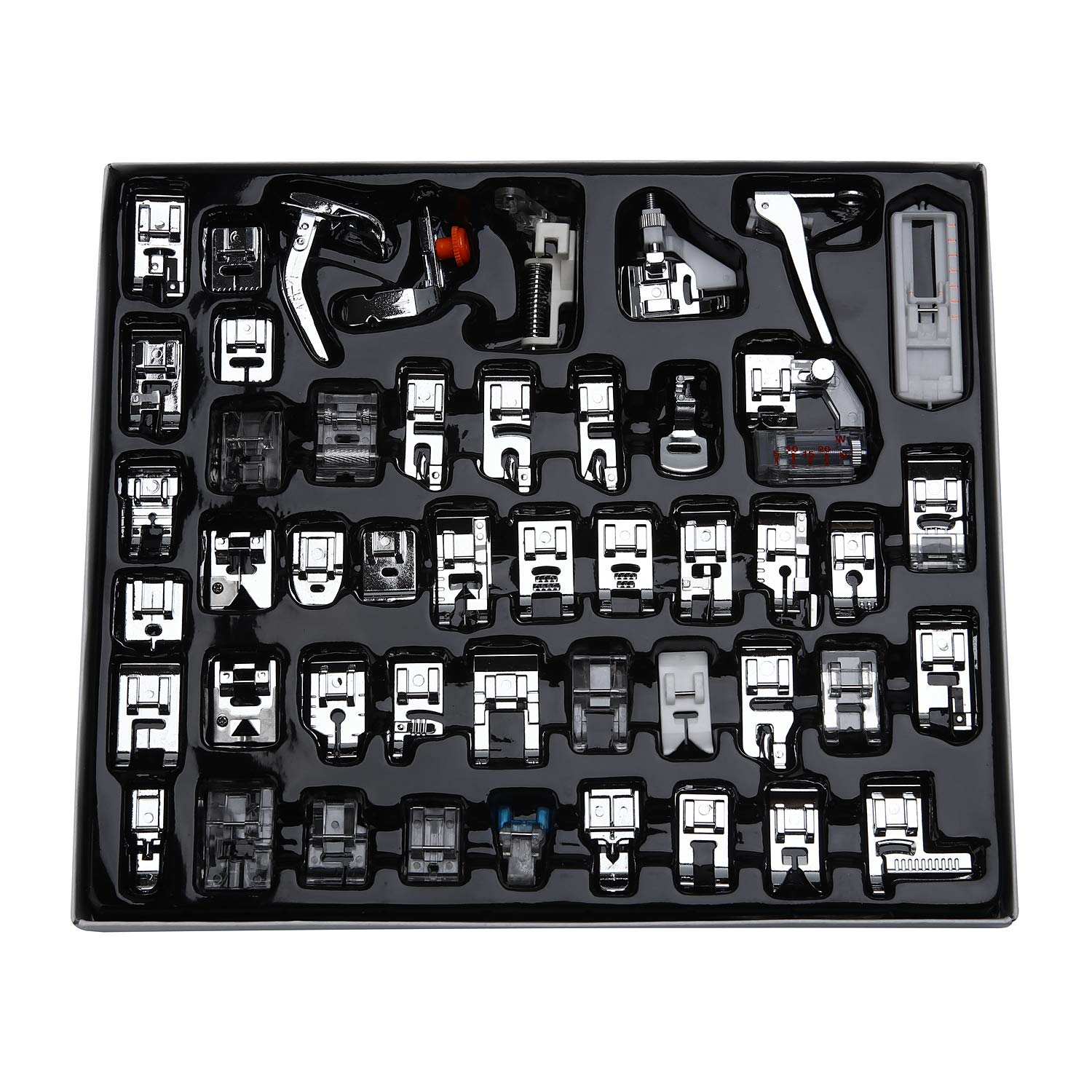 Aiskaer Professional 48pcs Sewing Machine Presser Feet Set for Brother, Babylock, Singer, Janome, Elna, Toyota, New Home, Simplicity, Kenmore, by Aiskaer