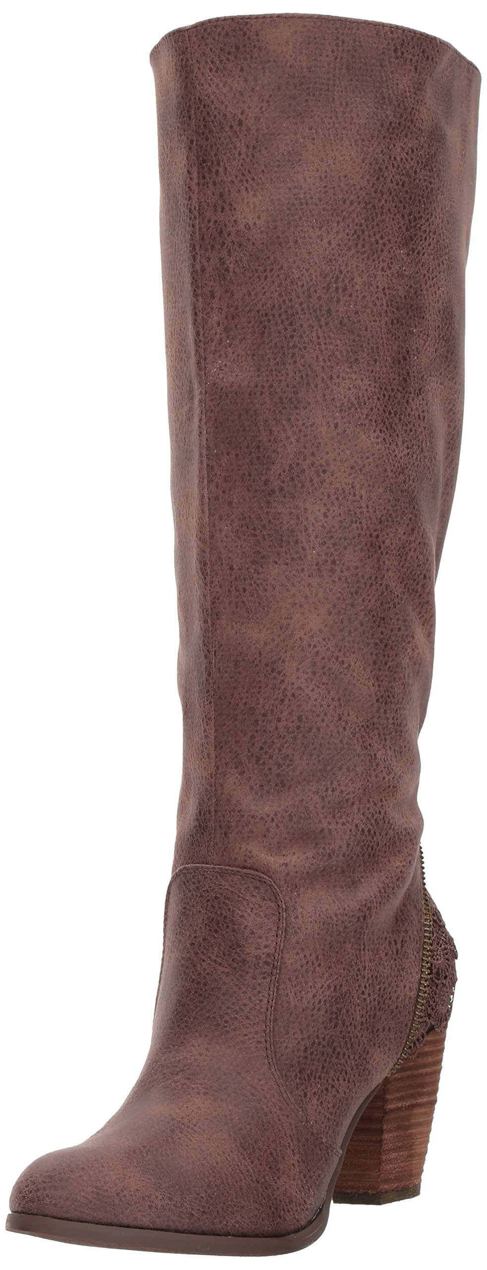 Not Rated Women's Sass It up Riding Boot, Brown, 10 M US