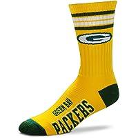 For Bare Feet NFL Men's Reverse 4 Stripe Deuce Crew Socks
