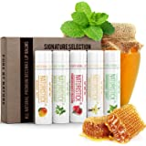 5-Pack Lip Balm Gift Set by Naturistick. Assorted Flavors. 100% Natural Ingredients. Best Beeswax Chapsticks for Dry…
