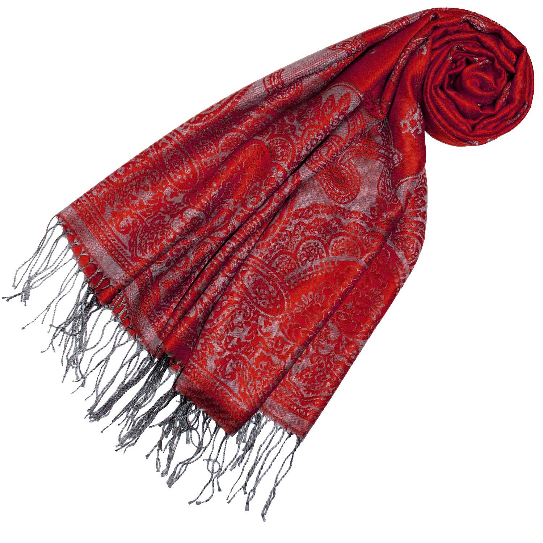 Lorenzo Cana Designer Damen Pashmina hochwertiger Markenschal jacquard gewebtes Paisley Muster 70 cm x 180 cm Modal harmonische Farben Schaltuch Schal Tuch 93310
