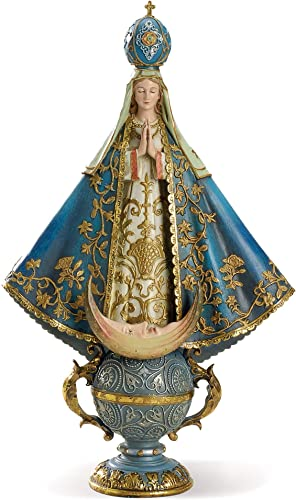 Joseph s Studio by Roman – Virgin of San Juan De Lagos Figure, Renaissance Collection, 14 H, Resin and Stone, Religious Gift, Decoration