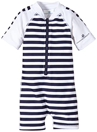 9a1fdf51b Snapper Rock Baby Boy   Girl UPF 50+ UV Protective Warm Short Sleeve ...