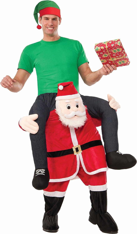 Santa Costume Christmas Fancy Dress Piggy Back Santa Costume