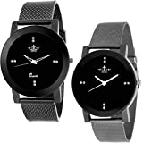 Swisso Quartz Movement Analogue Black Dial Women's Combo Watch - Swisso Woman's Combo