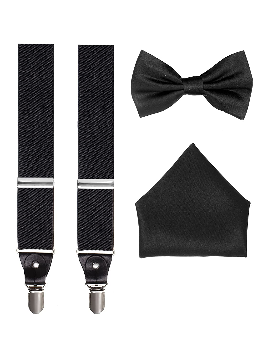 8224e6b71235 ... Cutting out the hassle of having to shop around to complete a look,  this handsome men\'s accessory set features a classic pair of Y-back  suspenders or ...