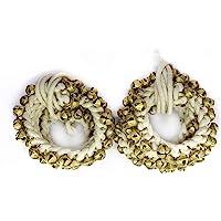Arts From India Ghungroo 50-50 Bells Pair, Ghungru 2 cm 14 No. Big Bells (Total 100 Bells) Dancing Bells ghungroo kathak…