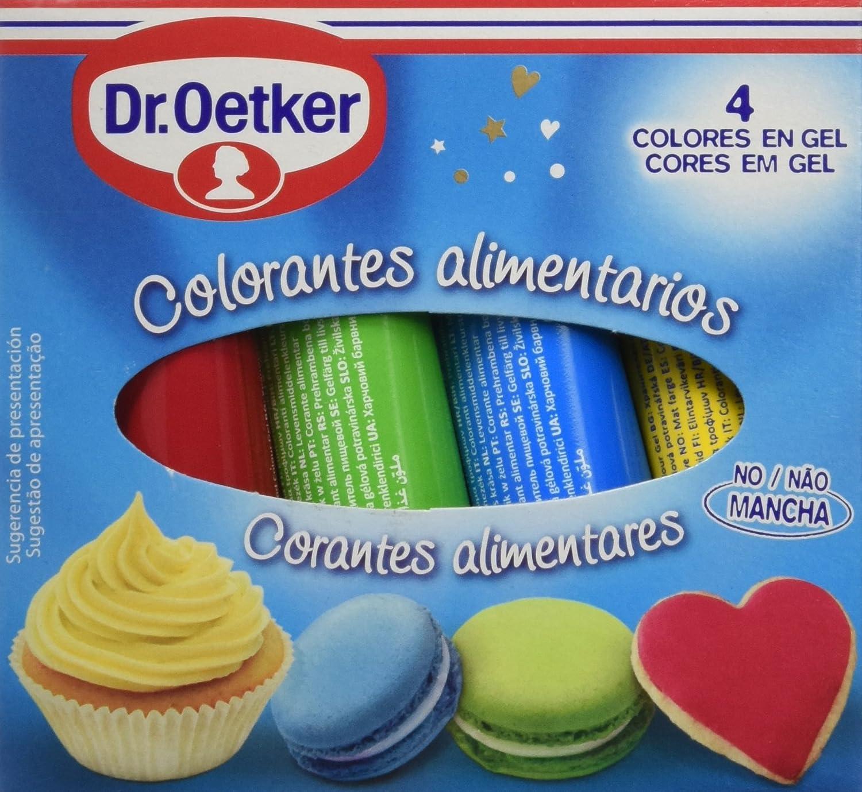 Dr. Oetker Colorantes Alimentarios - Pack de 4 x 10 g - Total ...