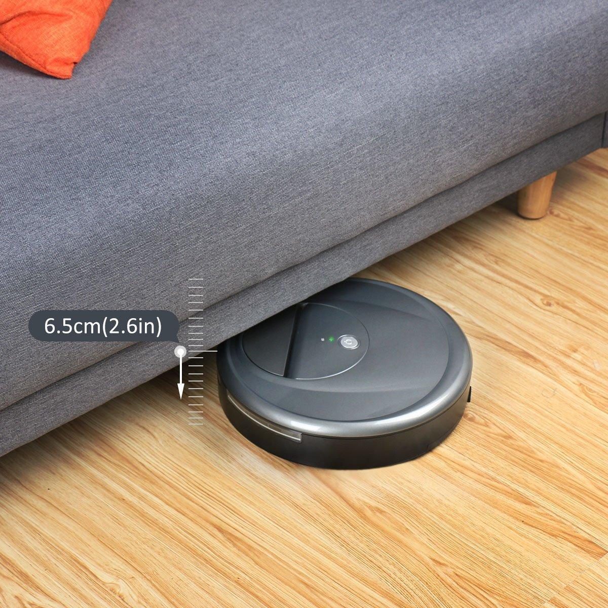 EVERTOP Robot Aspirador automático Robot de Limpieza de Inteligencia Color Rosa (FD-RSW(D)-Negro)