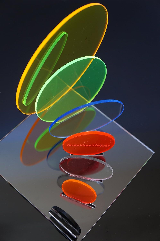 /Ø 40mm, transparent Plexiglas/® Platte Rund Scheibe Zuschnitt Rund verschiedene Gr/ö/ßen in-outdoorshop Acrylglas