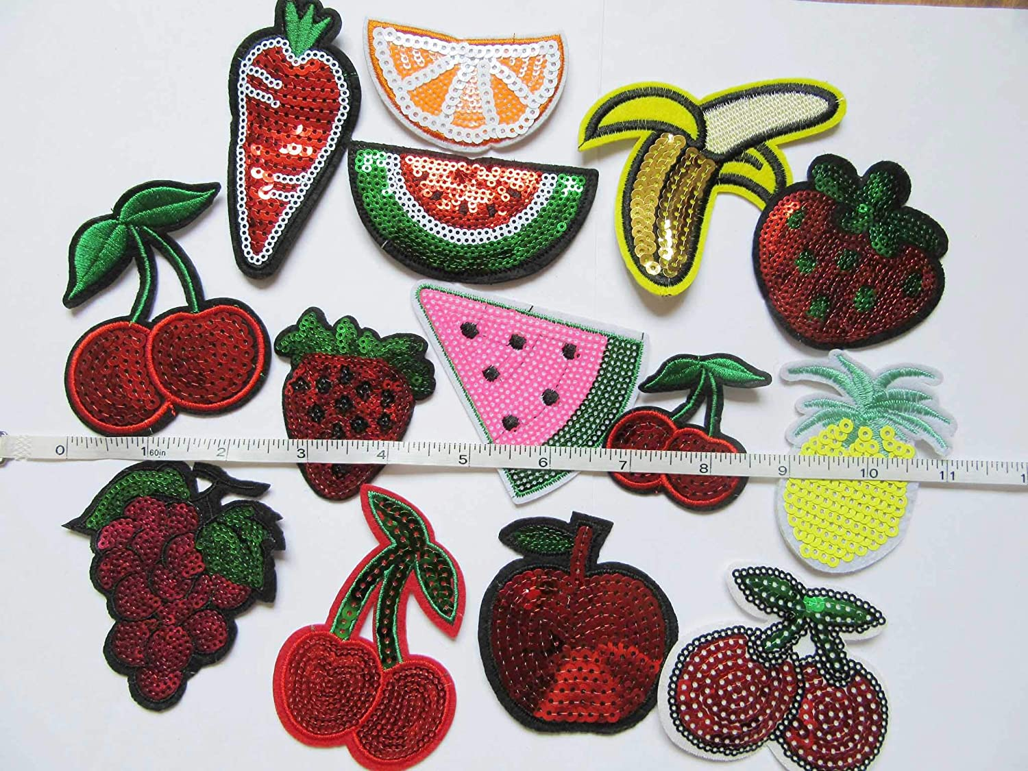 Strawberry patch Sequin Fruit patches Iron on patch