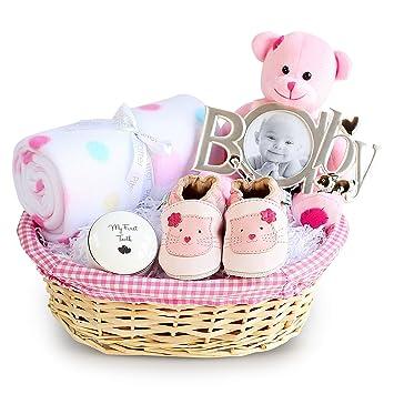 Deluxe Girl New Baby Gift Basket Newborn Baby Hamper Baby Shower
