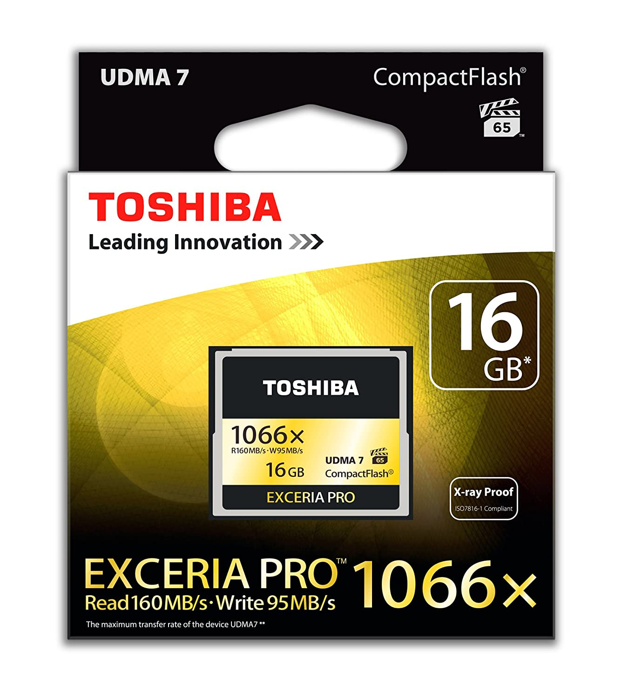 Toshiba EXCERIA Pro - Tarjeta de Memoria Compact Flash de 16 ...
