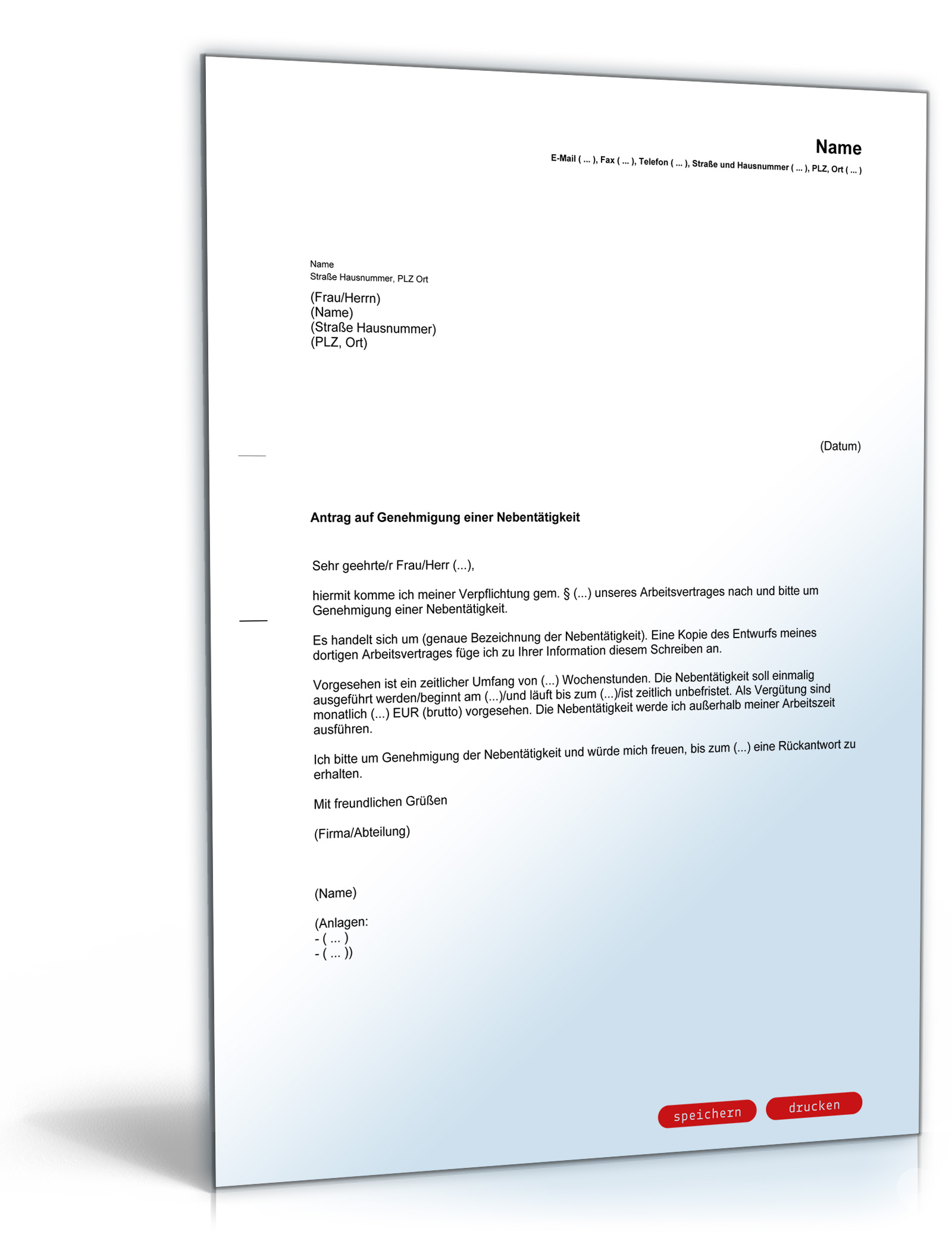 antrag auf genehmigung einer nebenttigkeit pdf download amazonde software - Antrag Nebenttigkeit Muster