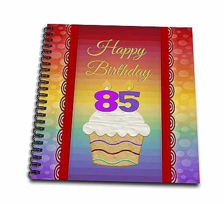 3dRose Cupcake con número velas, libro de recuerdos de ...
