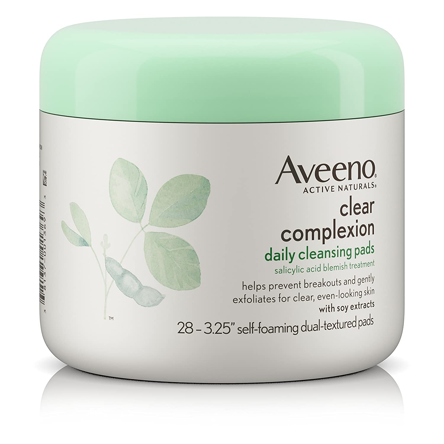 Aveeno Clear Complexion Daily Facial Cleansing Pads With Salicylic Acid Blemish Treatment, 28 Count J&J810838