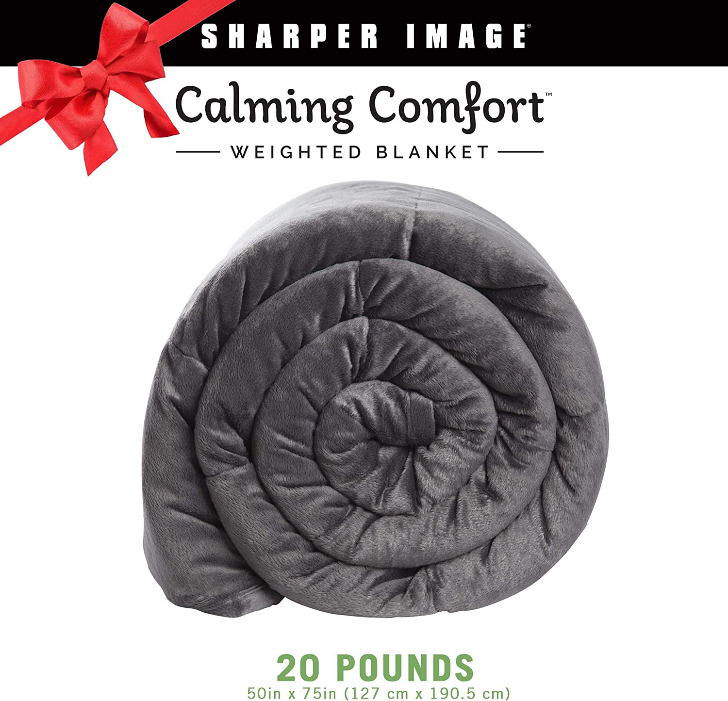 """Calming Comfort Weighted Blanket by Sharper Image- A Heavy Blanket