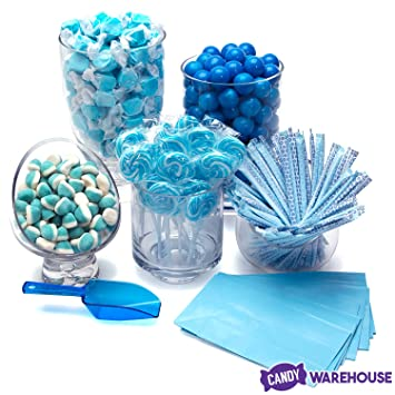 Stupendous Blue Candy Kit Party Candy Buffet Table Decor Download Free Architecture Designs Rallybritishbridgeorg