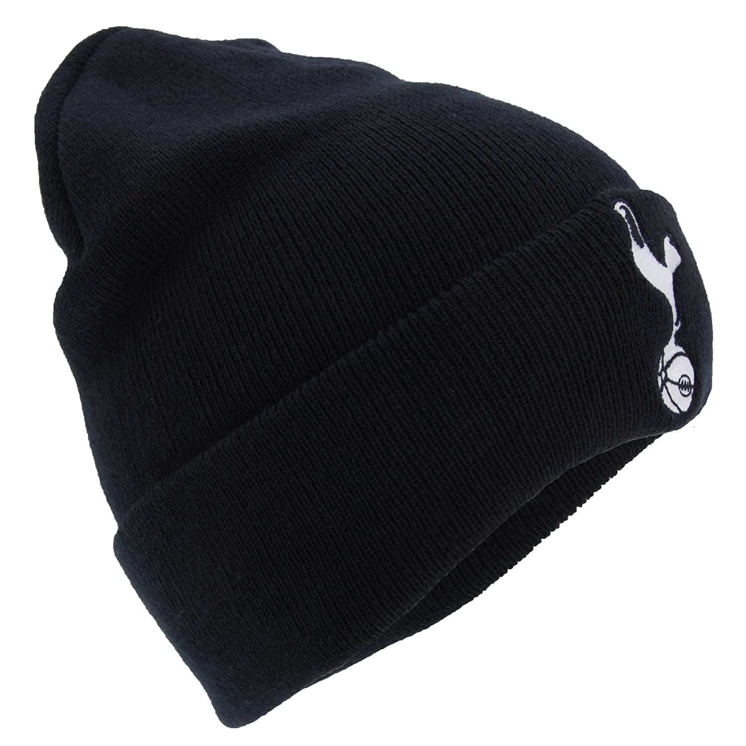 Tottenham Hotspur FC Official Adults Knitted Soccer Crest Winter Beanie Hat