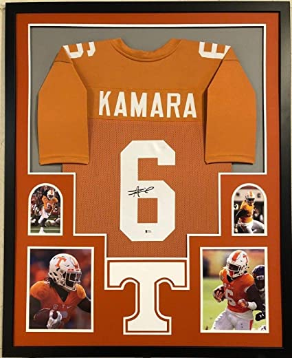 reputable site 53eb9 bd5cd FRAMED TENNESSEE VOLUNTEERS ALVIN KAMARA AUTOGRAPHED SIGNED ...