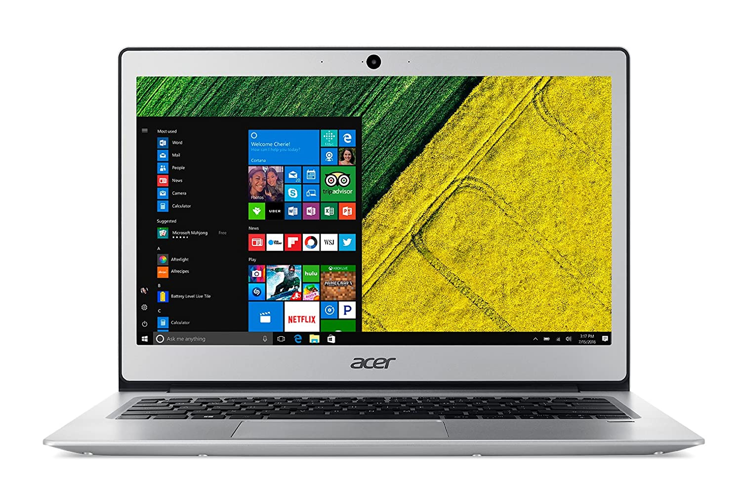 $398 (was $439.99) Acer Swift 1 13.3″ FHD Laptop, 4GB DDR3L, 64GB Flash Drive, Windows 10 Home, French Bilingual Keyboard
