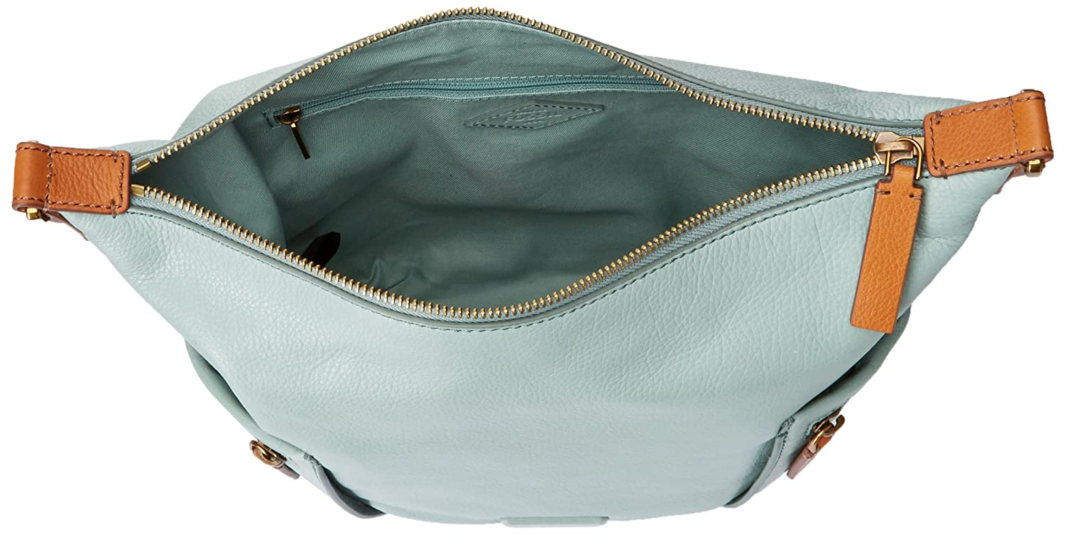 Fossil Emerson Small Hobo Bag Sea Glass One Size Satchel In Seaglass Clothing Accessories