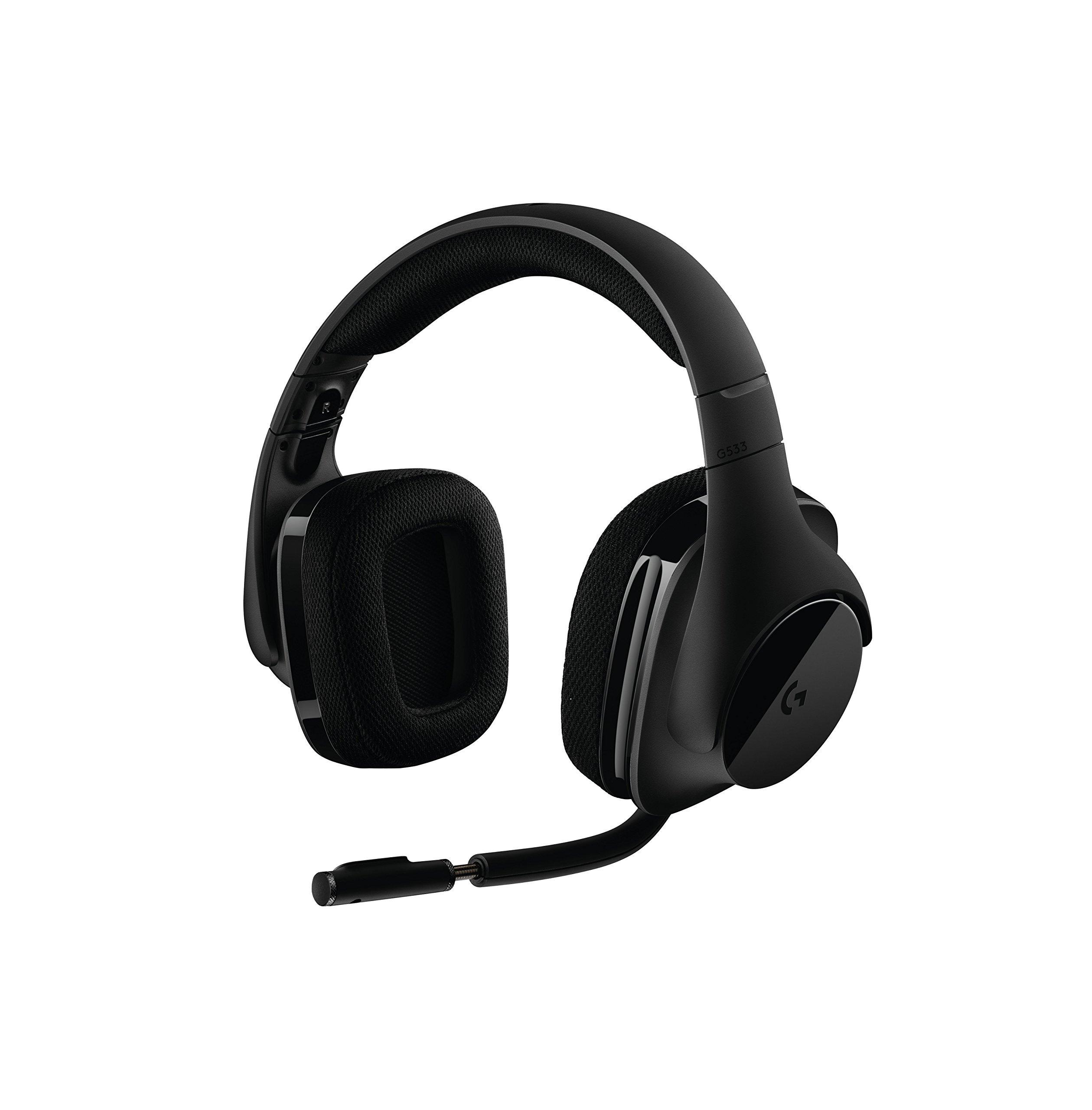 Logitech G533 Wireless Gaming Headset – DTS 7.1 Surround Sound – Pro-G Audio Drivers (Certified Refurbished)