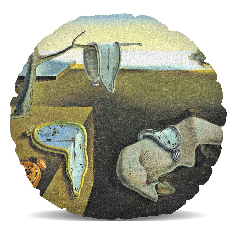 Relojes de fusión Salvador Dalí Fine Art cojín de forro polar - almohada en forma de corazón redondo cuadrado en 2 tamaños, Multicolor, Heart Cushion ...
