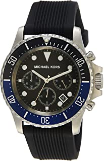 26073f6691c9 Michael Kors Everest Silver-Tone Stainless Steel and Silicone Men s watch   MK8365