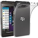 Blackberry Z10 Coque, iVoler [Liquid Crystal] Case Coque Housse Etui Ultra Hybrid TPU Silicone,[Extrêmement Mince Souple et Flexible] [Peau Transparente] [Shock-Absorption Bumper et Anti-Scratch Effacer Back] pour Blackberry Z10 (Bumper - HD Clair) -Garantie de Remplacement de 18 Mois